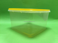 Waterproof rectangular plastic container with lid