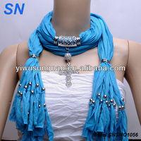 Diamond Inlay Cross Necklace Jewelry Fringed Scarf