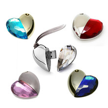 Heart Shape Crystal USB Flash Memory