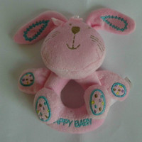 Happy Baby Infant Soft Plush Stuffed Toy Bunny Rabbit Rattles Movable