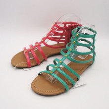 luxury flat no heel sandals for ladies wholesale low price
