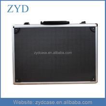 High quality black hard aluminum empty tool box with locks, 525 x 320 x 160 mm