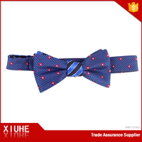 100% polyester costume blue and red point bow tie for mens