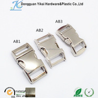 1/2 curved metal buckle/metal quick release buckle/metal buckles for dog collars