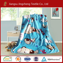2015 NEW 100% polyester super soft animal printing micro flannel fleece blanket for baby, children blanket