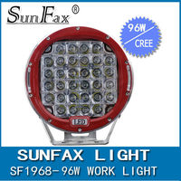 """High Quality! Red/Black round 9"""" 96W C REE Led driving work Light for 4wd Offroad, truck"""