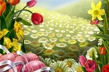 I have a date with Spring charming landscape wallpaper for home wall paper