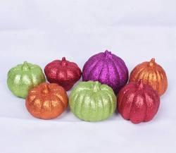 Glitter halloween pumpkin light decorations /foam craft pumpkins
