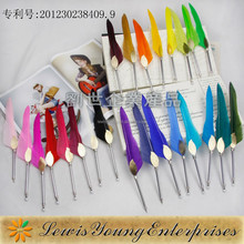 Business Gift writing feather fountain pen/Feather Fountain Pen For Gift
