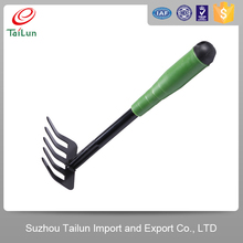 mini plastic coated garden root rake
