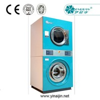 Double Stacked washer and dryer machine for clothes