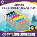 """T0331 T0332 T0333 T0334 T0335 T0336 Refillable ink cartridge for Epson inkjet printer from Alibaba China """