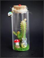 Moss micro landscape ecological glass bottle