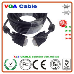 New Premium New Design 30m Available lengths Vga Cable With 3.5Mm Audio Cable