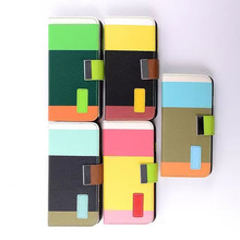 Hit Color Rainbow Wallet PU Leather Case For iPhone 6 Plus 5.5 inch