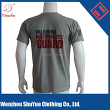 Gray Cotton/Polyester Fabric Print T-shirt Designs for Men