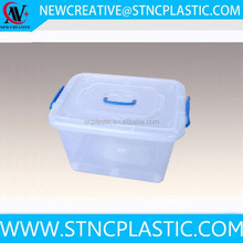 clear plastic large handle storage container for home use