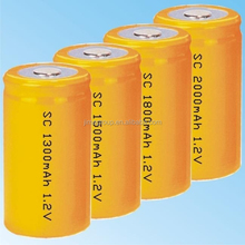 ni-cd sc 1200mah rechargeable battery 1.2v for power tools