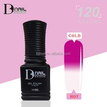 120 colors soak off Temperature Changing Color Nail Gel polish wholesale OEM/ODM