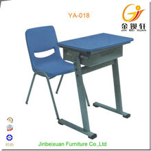 Blue color single person study desk cheap child reading table