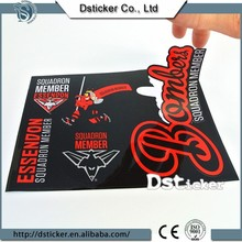 2015 new design glossy lamination paper sticker for car