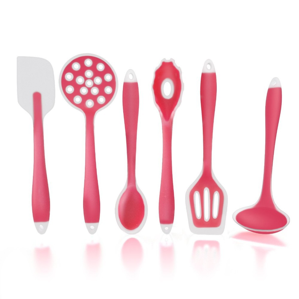 Bpa Free 100 Food Grade Silicone Kitchen Utensil Set Silicone Stainless Steel Cooking Tools