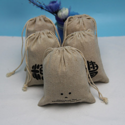 Hot sell stylish handmade linen jute bags