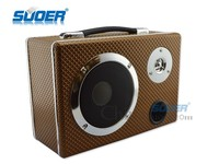 Suoer Fashionable Leather Car Subwoofer 5 Inch Square Three-used Subwoofer with Plug-in Card