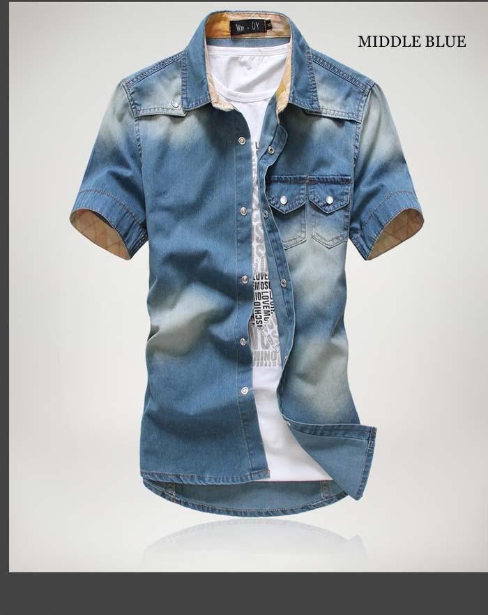 men short sleeve shirt big size 3