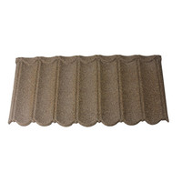 building brown color metal aluzinc barbados antique roof tiles
