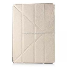 2015 hot selling custom Silk print flip leather case for iPad mini