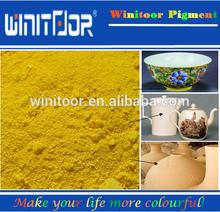 De color amarillo brillante pigmento cerámico polvo