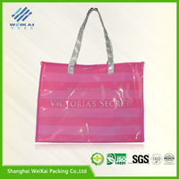 New product PVC shopping bag, PVC tote bag, plastic promotion bag with handler