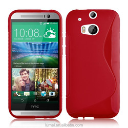 S Line Wave Gel TPU Case Cover For HTC ONE M8 Free Screen Protector