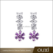 2015 OUXI new arrival accessory earring made with AAA zircon -20823