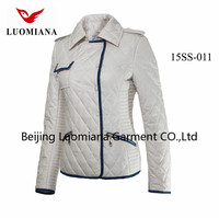 2015 new design 100% cutton spring overcoat