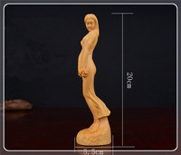 wood figurine sexy women statue handmade wood crafts for home decoration