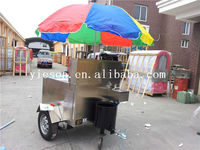 Food Service Cart with Wheels for hot dog trailer mobile cooking vehicle YS-HD120