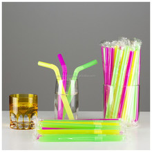 Bar Accessorie Type Bubble Tea Straws with opp plastic wrapped