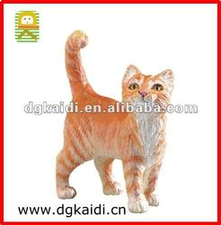 Plastic Farm Animal Toys_Yellow Tabby Cat