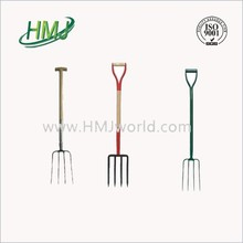 Garden pitchfork farming wooden handle fork