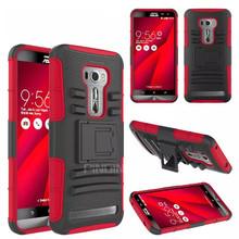 3 in 1 heavy duty belt clip holster case for Asus zenfone 2 laser ZE551KL,hybrid armor kickstand case for Asus zenfone 2 laser