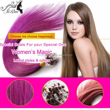 Top grade 6A remy hair micro ring straight hair extension, 100% virgin real girl pussy hair
