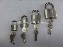 stainless steel padlock with normal keys