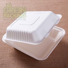 Sugarcane compostable fast food packaging/take away food packaging