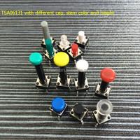 China Manufacturer Khan Quality aluminum 250v 10a straight foot tact switch