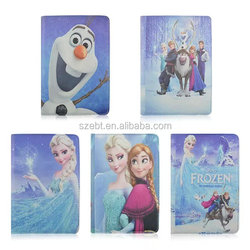 New Arrivaled 3D carton Frozen for ipad 3 Case, Rotating Leather Flip Case For Ipad 3