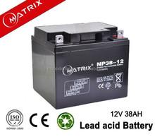 Vavle regulated lead acid 12v battery for ups /inverter/eps NP38-12