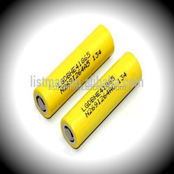 e-cig mod battery lg he4 18650 rechargeable battery cell flat top