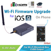 Universal competive factory price wireless Mirror link for all car audio player with Av,HDMI or RGB input/Mirror link